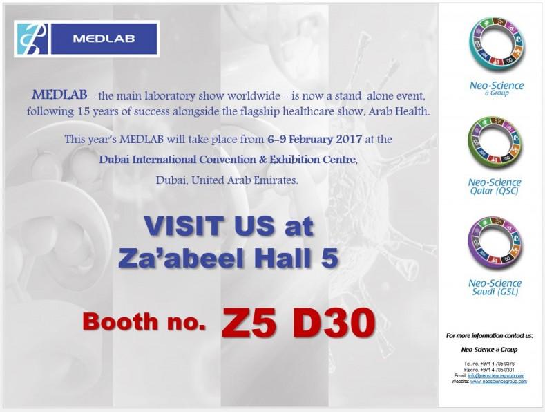 Exhibition Booth Invitation : Qatar scientific company equipment in